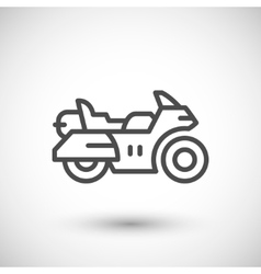 Touring motorcycle line icon vector