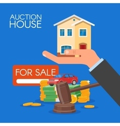 Auction and bidding concept in vector