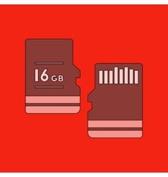 Flat icon on background micro sd vector