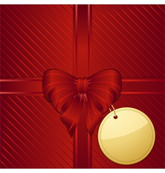 Christmas red gift wrapped background vector image