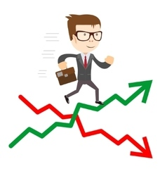 Raise and fall of business indicators vector