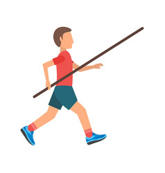 pole vault vector image