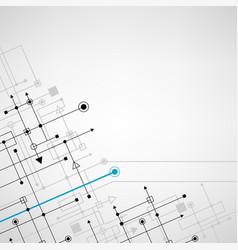 Techno sign square background vector
