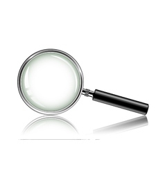 Metal magnifying glass vector