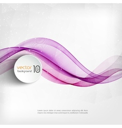 Abstract transparent wave background vector image