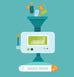 Search engine concept in flat style vector
