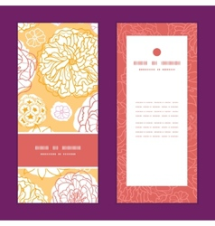 Warm day flowers vertical frame pattern invitation vector