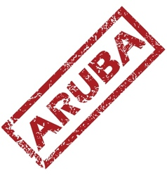 New aruba rubber stamp vector