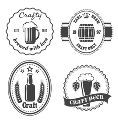 Craft beer brewery badges and logo vector