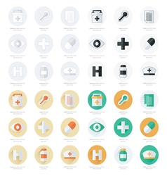 Flat icons set of medical tools set vector