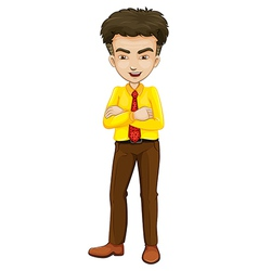 A smiling businessman standing vector