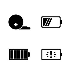 Battery simple related icons vector