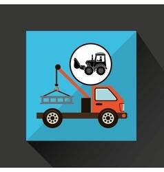 Construction truck concept car tow design vector
