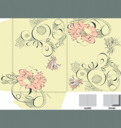 decorative template for folder design vector image vector image