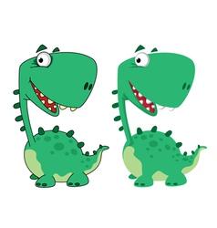 dino cartoon funny vector image vector image