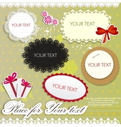 Elegant paper bubble for speech vector image vector image
