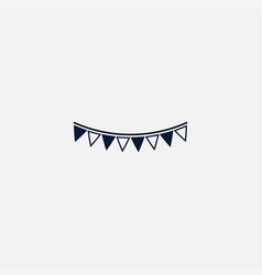 garland flag icon simple vector image vector image