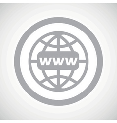 Grey global search sign icon vector