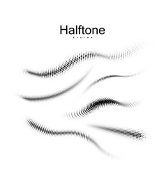halfton 3d shapes collection vector image vector image