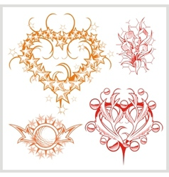 Hearts design for tattoo vector