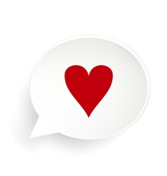 Hearts Speech Bubble vector image vector image