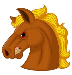 Horse head mascot cartoon character vector image