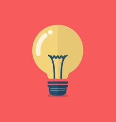 Lightbulb icon flat design vector