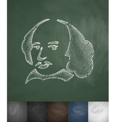 Man icon hand drawn vector