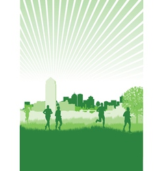 nature runners vector image