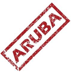 New aruba rubber stamp vector