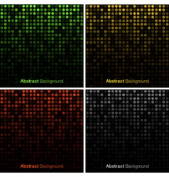 Set of Abstract Technology Backgrounds vector image vector image