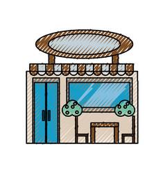 Shop store building vector