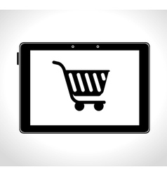 shopping cart online delivery icon design vector image