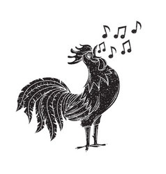 singing rooster vector image vector image