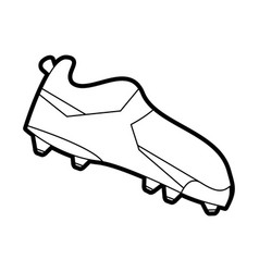 soccer shoe vector image