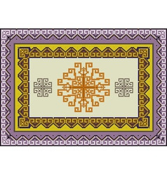 Variegate ethnic pattern for rug vector