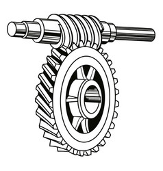 worm gear mechanism vector image