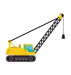 Cargo crane truck tractor machinery industry vector