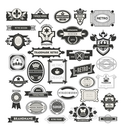 Retro vintage insignias vector