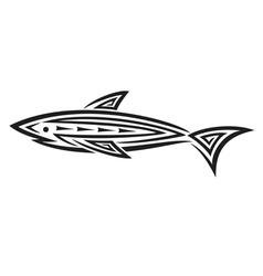 Black shark tattoo for design vector image