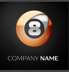 number eight symbol in the colorful circle vector image