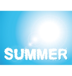 Summer clouds vector