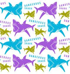 Dangerous sharks seamless pattern vector
