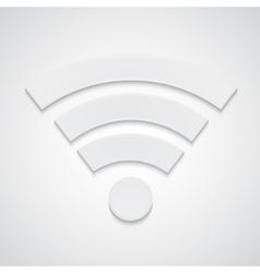 Paper wi-fi symbol vector image