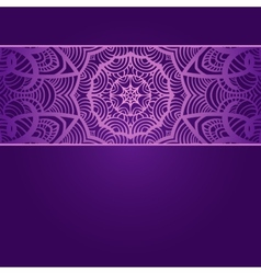 Vintage invitation card on purple background with vector image