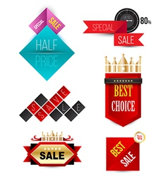 Badges ribbons and banners vector