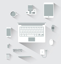 Flat design devices computer concept vector