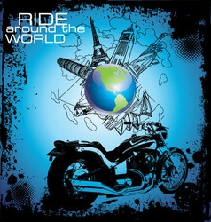 Ride around the world vector