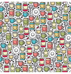 Seamless kitchenware pattern vector