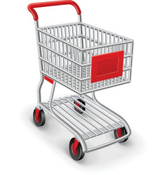empty shopping cart vector image
